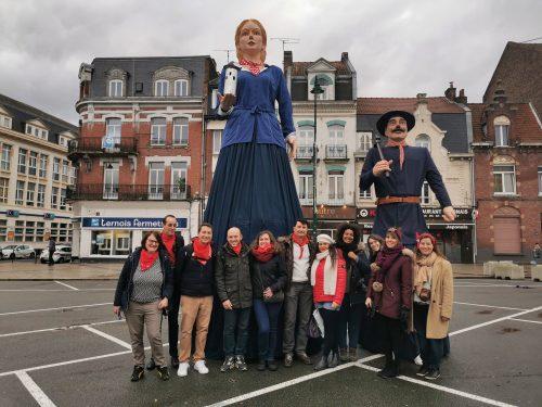 Les #BlogueursHdF avec la géante Sainte-Barbe
